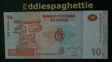 Congo D R 10 Francs 30-6-2003 Printer G-D UNC P-93
