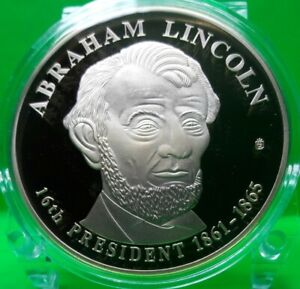 ABRAHAM LINCOLN DOLLAR TRIAL COMMEMORATIVE COIN PROOF VALUE $99.95