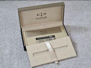 Parker Pen Duofold Fountain Pen Empty Gift Box Case + 5x Ink Cartridges