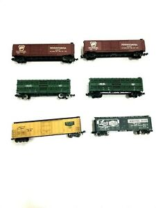 n scale ATLAS freight box cars 6 carriages in total. Lot 1