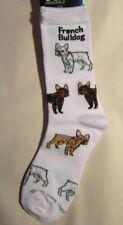 Adult Socks French Bulldog Poses Fashion Footwear Dog Socks Size Medium 6-11