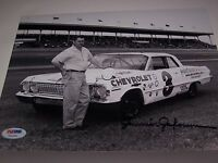 JUNIOR JOHNSON AUTHENTIC Signed NASCAR RACING RARE 8x10 PHOTO PSA CERTIFIED