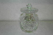 WATERFORD SWAG CUT CRYSTAL HONEY POT/CONDIMENT/JELLY JAR W/LID