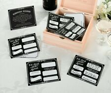 Wedding accessories - Guest Book Alternative - Set of 48 Black Wishes Cards