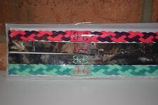 Under Armour Women's Outdoor Headbands 4 Pk Fish Hook Logo (Pink/Camo/Green) NIP