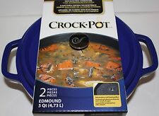 Crock-Pot - Edmound Cast Aluminum Dutch Oven, 5 quart, Blue, New In Package!!!