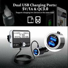 Bluetooth Car Kit DAB / DAB+Digital Radio Adapter FM Transmitter Handsfree QC3.0