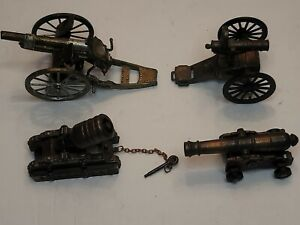 Vintage Metal Brass Cannon Military Artillery  Collectible Spain/England Lot 4