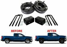 """MotoFab 3"""" Front & 2"""" Rear Leveling Kit For 2007-2018 GM Pickup Trucks Spacers"""