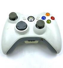 Manette Xbox 360 officielle sans fil - Blanche - Avec cache pile / Fonctionnelle