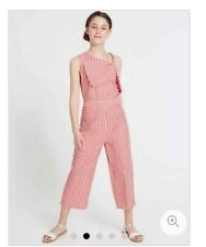 M&S Pure Cotton Bow Jumpsuit (9-10,10-11,11-12 Years)