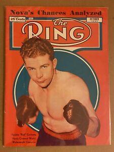 1941 THE Ring New WORLD WELTERWEIGHT CHAMPION Freddie COCHRANE Nova vs JOE LOUIS
