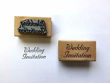 Wood Rubber (Custom Made) Wedding Invitation Stamp