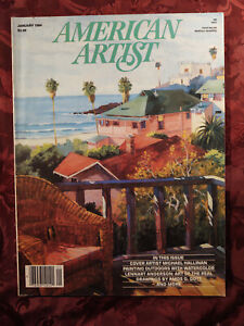 AMERICAN ARTIST January 1984 Michael Hallinan Lennart Anderson Alan Singer