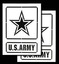"""Re-usable Airbrush Spray Paint Truck Stencils  9x12"""" United States (US ARMY)"""