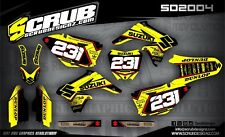 Suzuki graphics RMz 250 2010-2018 decals kit stickers motocross '10-'18 SCRUB