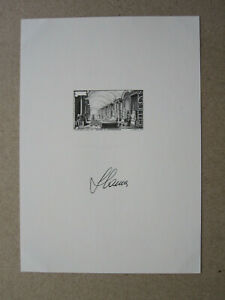 Sweden - Gustav III Museum of Antiquities 1997 Black Print + engraved signature