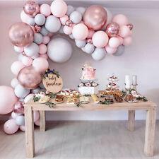 Balloon Arch Kit Set Chrome Balloons Wedding Birthday Garland Party Pink Grey UK