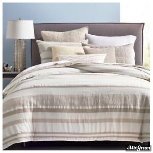 Hotel Collection Honeycomb King Duvet Cover Tan/Beige NEW NWT 420.00