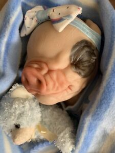 Sweet Reborn Baby GIRL PIG Doll LILAH was Petal by Bountiful Baby COMPLETED