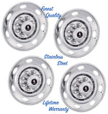 "16"" TRAILER WHEEL RIM COVERS HUB CAPS OVER LUG MOUNT SINGLE WHEELS SET OF 4 ©"