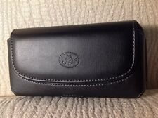 """(Cellphone Size 6.25""""x3""""x0.6"""") Leather Case Belt Clip & Loop Pouch Holder"""