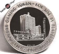 $5 FULL PROOF STERLING SILVER SLOT TOKEN SAHARA CASINO 1967 FM MINT LAS VEGAS
