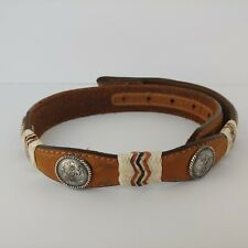 Tony Lama Concho Rawhide Leather Belt sz 22 Youth Belt 79691