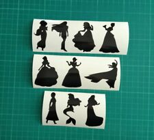SET OF 10 DISNEY PRINCESS DECAL VINYL STICKERS PARTY DECORATION WALL TABLET