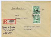 Bizone/AM-Post, Mi. 31Az MeF, Orts-R-Wuppertal-Barmen 6.4.46, AKS
