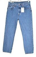 Womens Levis 501 High Rise Straight Leg Blue PREMIUM Jeans 10 W28 L28 SHORT