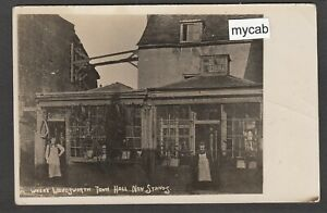 Postcard Wandsworth London shop front Where Town Hall Now Stands posted 1909 RP