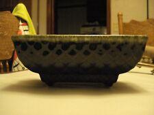 Vintage Dark Brown & Green Ceramic Planter, 3 x 8 x 4, Marked 404 USA