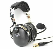 SkyLite SL-900 Pilot Aviation GA Pilot Headset with Ear Gel and Free Bag
