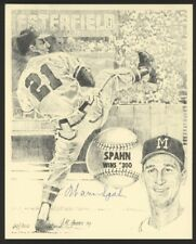 Warren Spahn Signed Limited Edition Braves Print