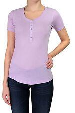 Unifarbene Damen-T-Shirts mit Rundhals
