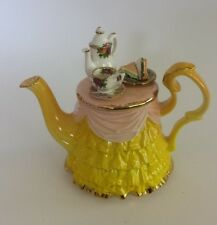 Vintage Royal Albert Old Country Roses 1996 Yellow Miniature Teapot TEASET TABLE