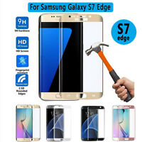 Full Curved 3D Tempered Glass Screen Protector cover For Samsung Galaxy S7 Edge