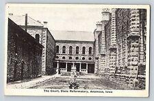 Anamosa Iowa IA The Court State Reformatory Antique Postcard c1910