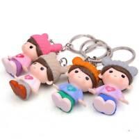 Fashion Couple Key Chain Car Keyring Key Ring Lovers Bag Pendant Accessories