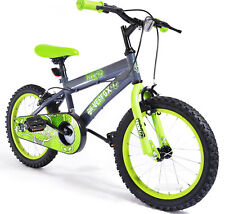 """16"""" Toxin Boys KIDS BIKE - Childrens SILVERFOX Bicycle in GREEN Ages: 5 - 7"""