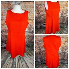 REAL FORM PLUS Ladies Red Dress Size 28/30 Plus Back Zip Smart Holiday NEW NWOT