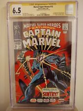 Marvel Super Heroes #13 CGC 6.5 AUTOGRAPHED by ROY THOMAS