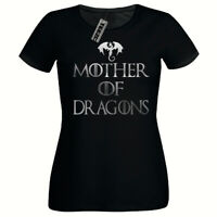 Silver Mother Of Dragons T Shirt, Ladies Fitted T- Shirt,Game Of Thrones T Shirt