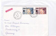 Franz. Polinesia 33-34 carta bailarina Dance Tahití polynesie française carta