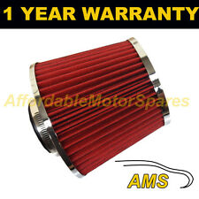 RED & CHROME UNIVERSAL PERFORMANCE CONE INDUCTION KIT AIR FILTER WITH ADAPTORS