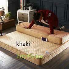 Latex Sponge Filling Mattress Slow Rebound Tatami Cotton Cover Bedspread Size US