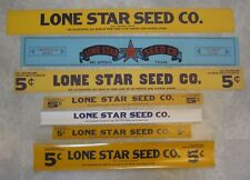Lot of 7 Old Vintage 1940's LONE STAR SEED CO. - Advertising SIGNS / Box Labels
