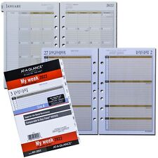 2022 At A Glance 481 285y Day Runner Weekly Monthly Planner Refill 5 12x8 12