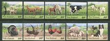 NEW ZEALAND....    1995  farm animals booklet stamps  set  used